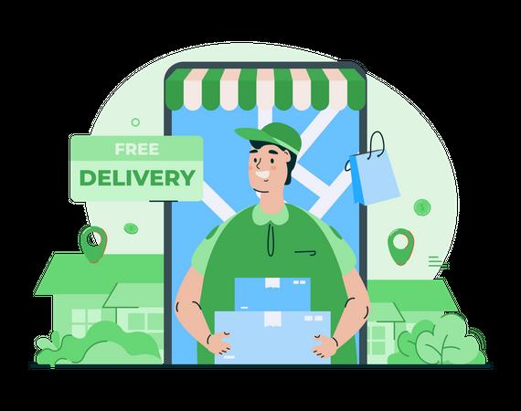 Shopping order delivery Illustration