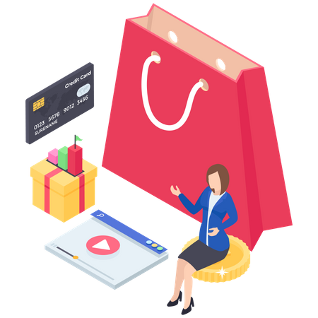 Shopping Payment Illustration