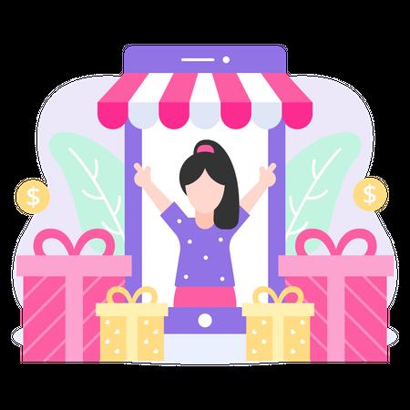 Shopping Reward Illustration
