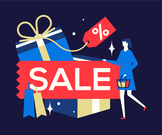 Shopping sale Illustration