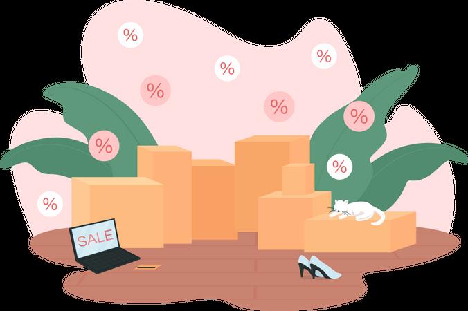 Shopping sales Illustration