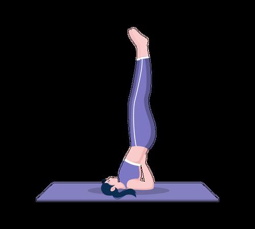 Shoulder stand pose Illustration