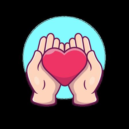 Showing heart gesture Illustration