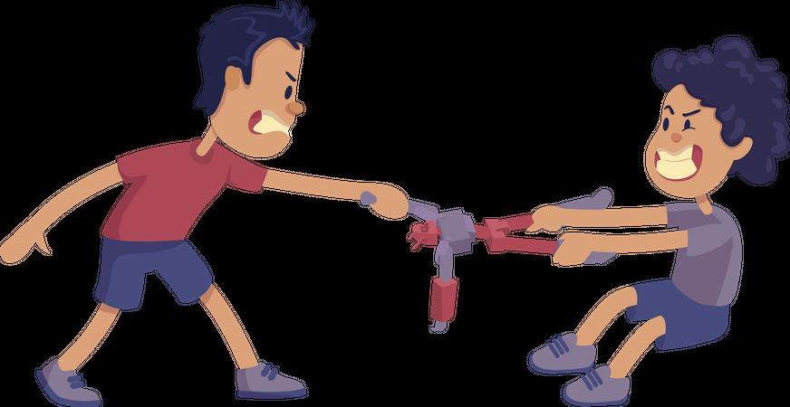 Siblings rivalry Illustration