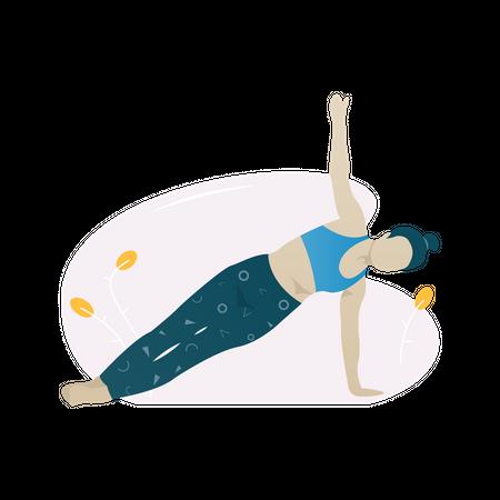 Side plank exercise Illustration