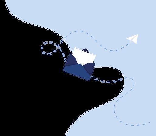 Signup Letter Illustration