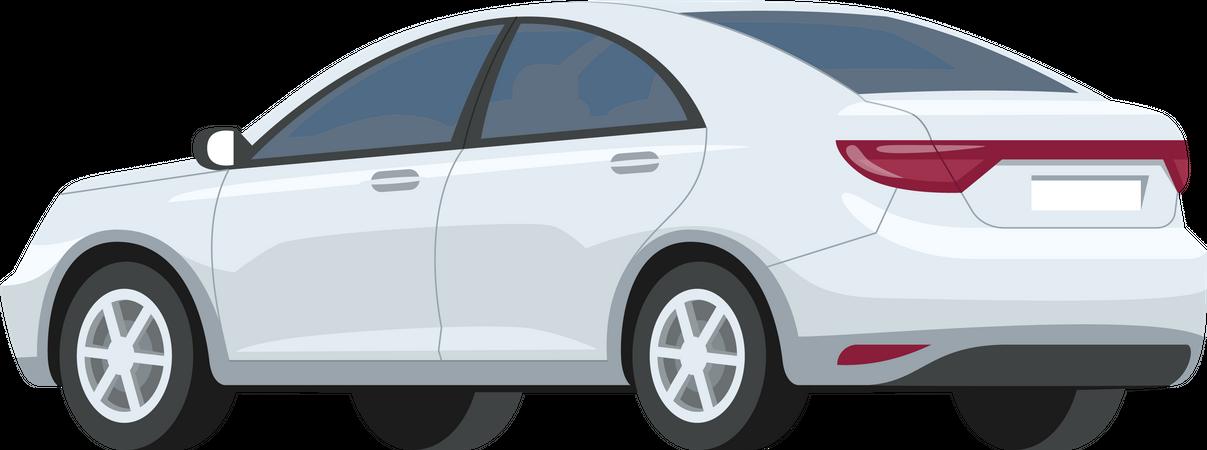 Silver car Illustration