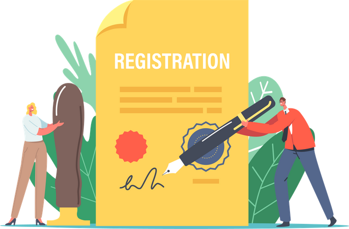 Singing Registration Paper Illustration