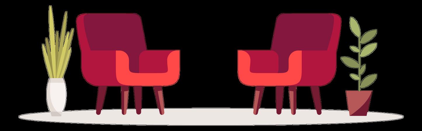 Sitting Chairs Illustration