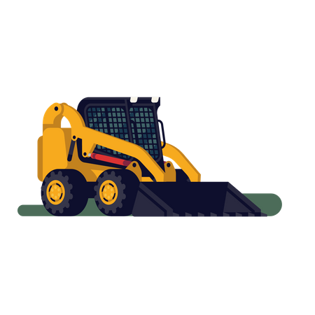 Skid steer loader Illustration