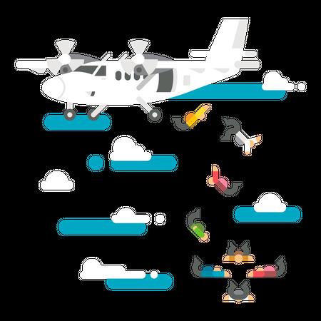 Skydive Illustration