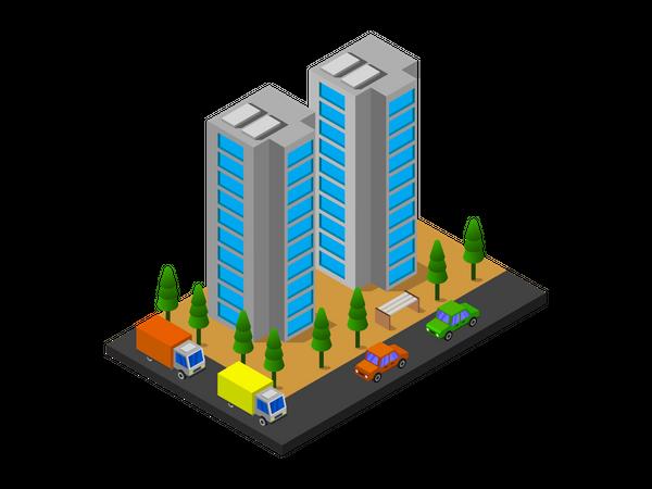 Skyscraper building Illustration