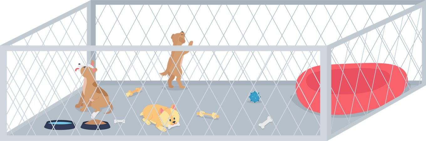 Small dogs for adoption Illustration