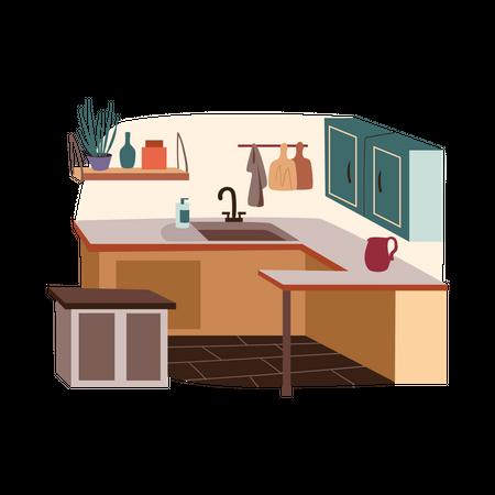 Small kitchen Illustration