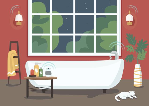 Smart bathtub Illustration