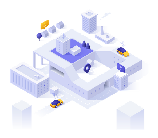 Smart City Model Illustration