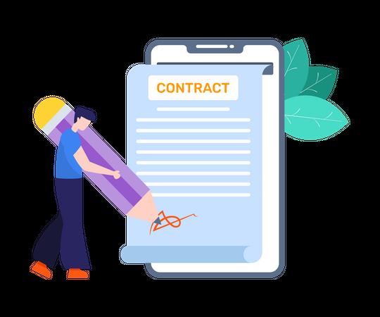 Smart Contract Illustration