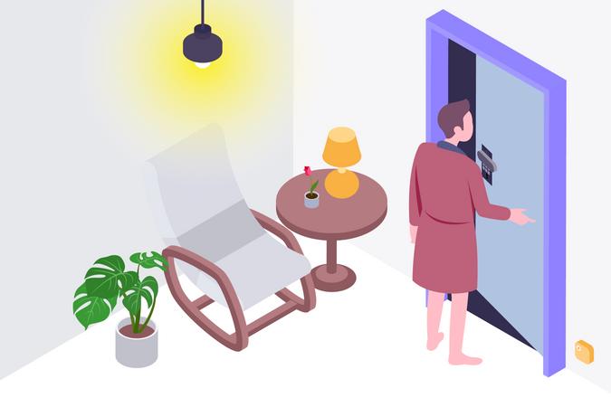 Smart door lock Illustration