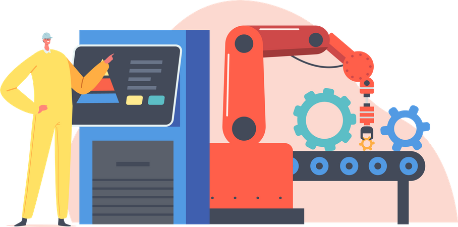 Smart Factory Workflow Illustration