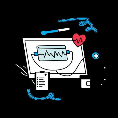 Smart healthcare web application Illustration