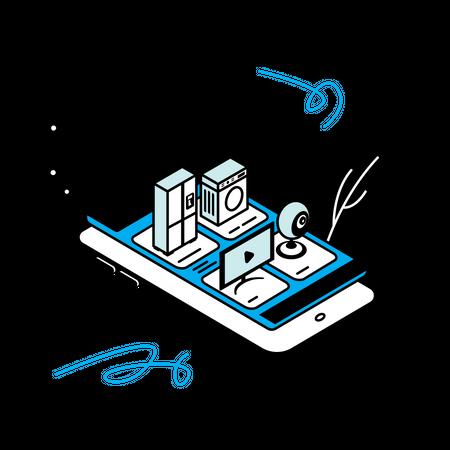Smart Home App Illustration