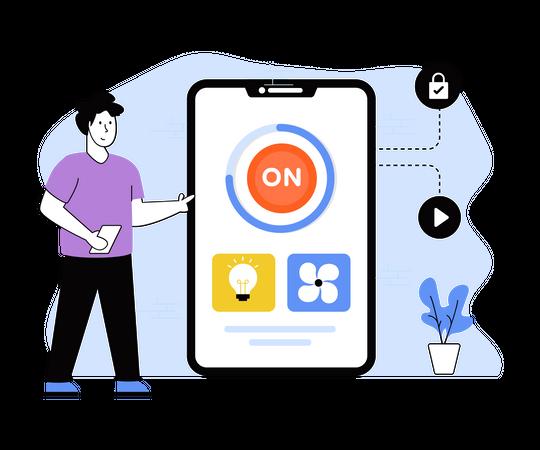Smart Home Application Illustration