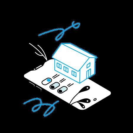 Smart home mobile app Illustration