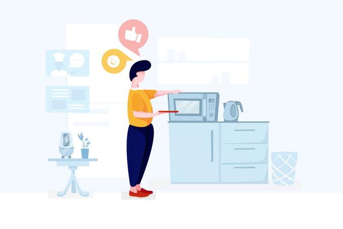 Smart home technologies Illustration