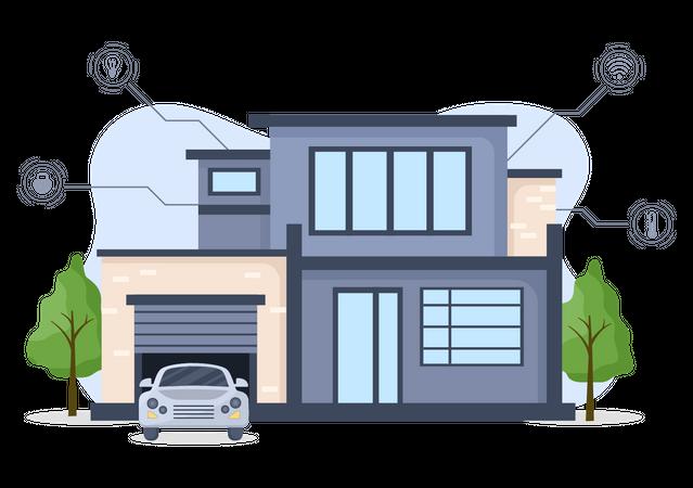 Smart Home Technology Illustration