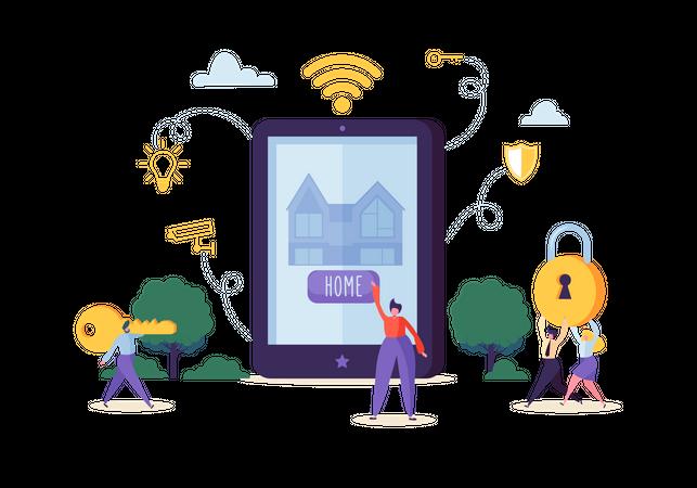 Smart House Technology Concept Illustration