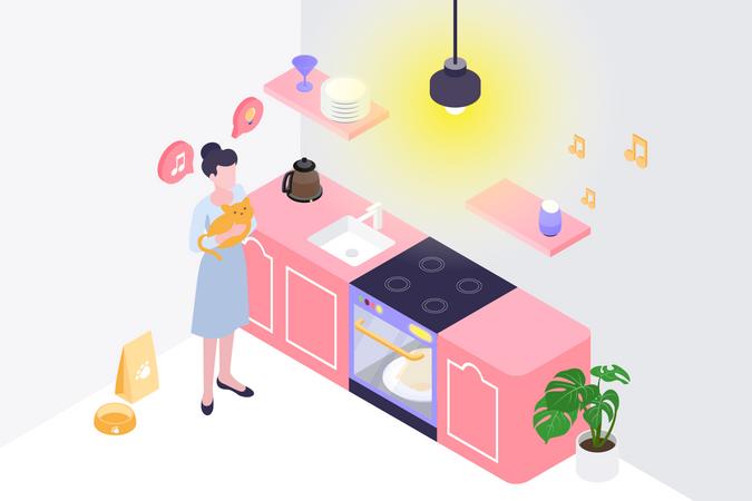 Smart Kitchen Illustration