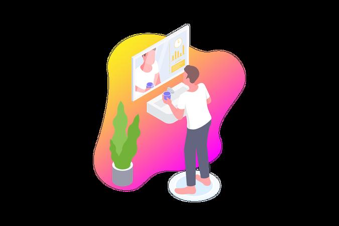Smart Mirror Illustration