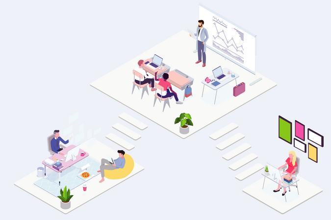 Smart Office Illustration
