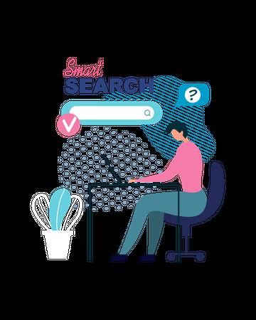 Smart search Illustration
