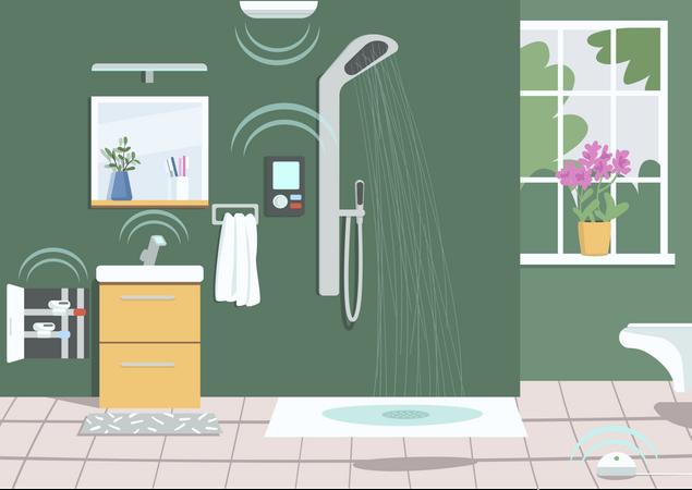 Smart shower Illustration