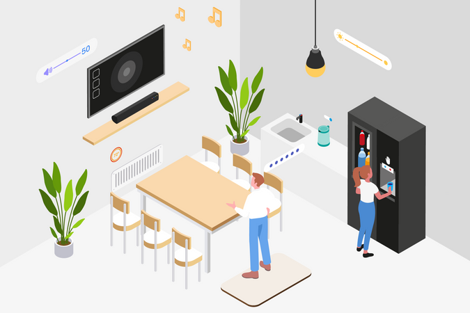 Smart Workplace Illustration