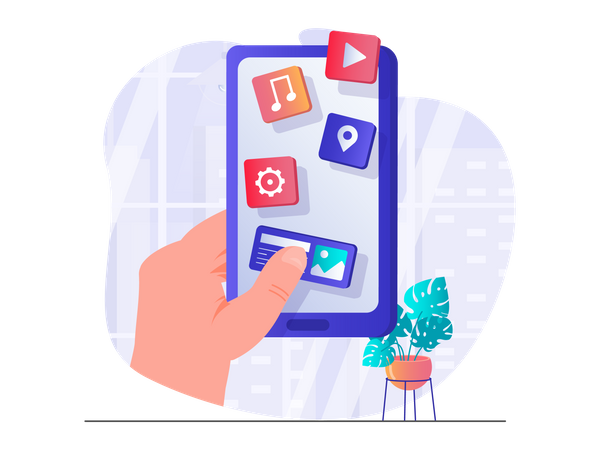 Smartphone applications Illustration
