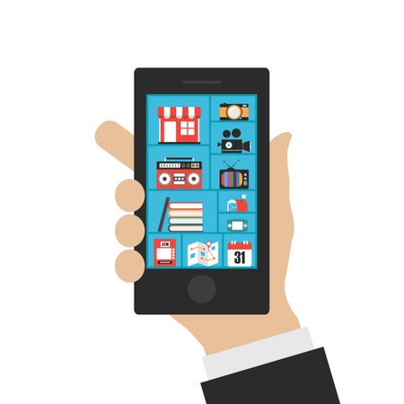Smartphone's Benefits Illustration