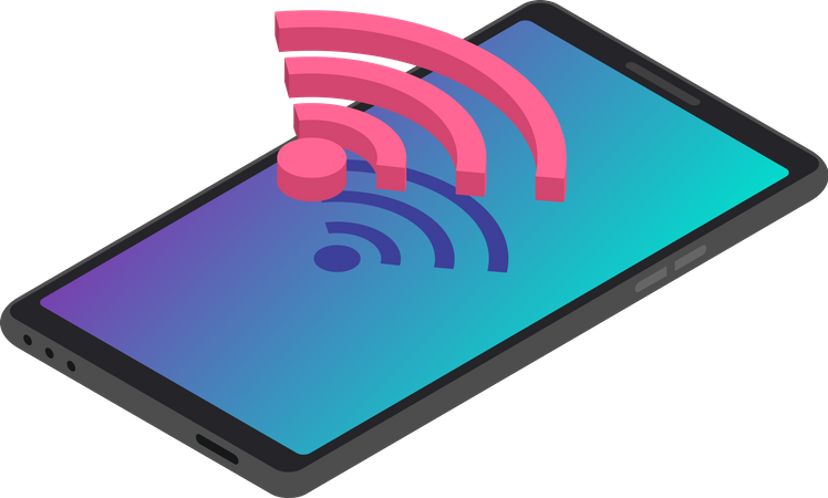 Smartphone wireless Internet connection Illustration