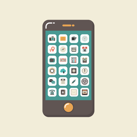 Smartphone With Application Illustration