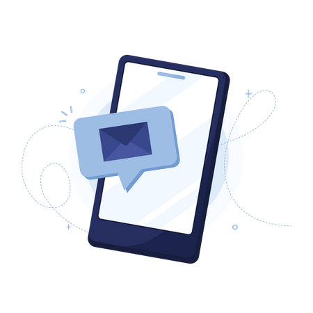 Smartphone  with Mail Illustration