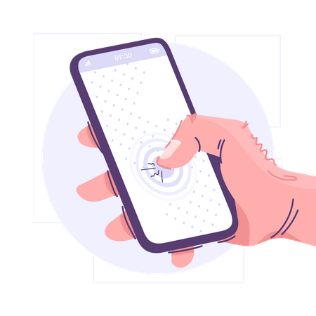 Smartphone With Touch Screen Illustration