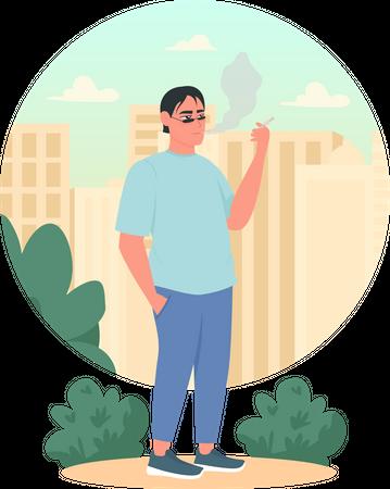 Smoker Illustration