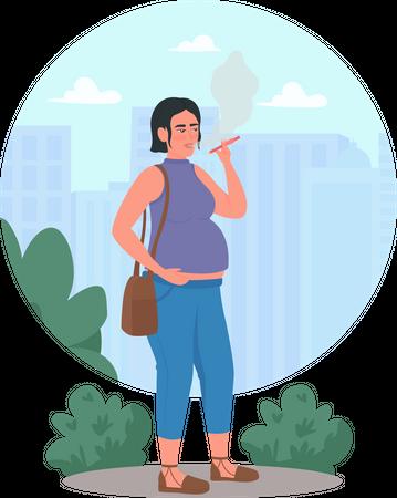 Smoking during pregnancy Illustration