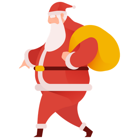 Sneaky Santa Illustration