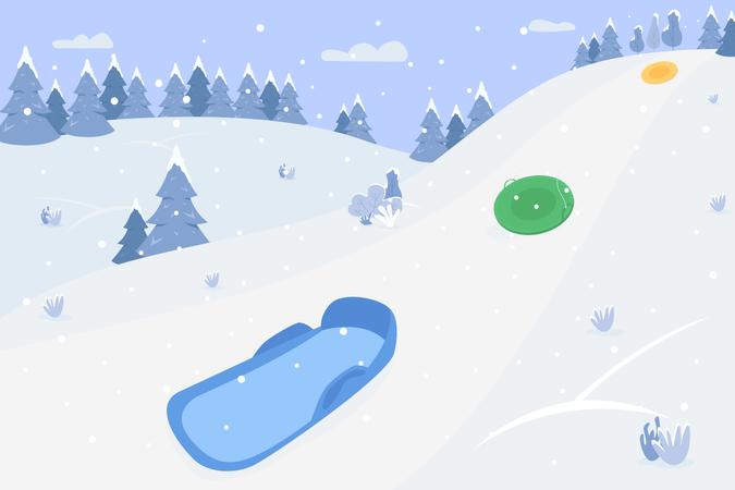Snow hills Illustration