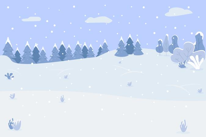 Snow Mountain Illustration