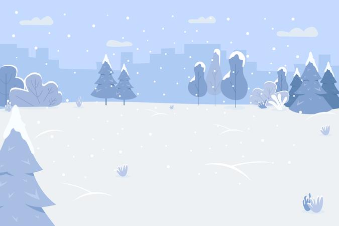 Snow park Illustration