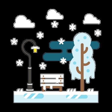Snowfall Illustration