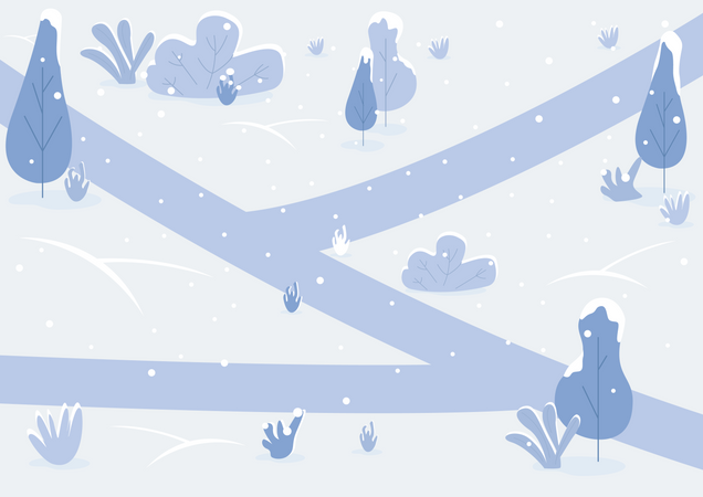 Snowy path Illustration